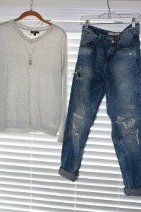 TopShop basic, Zara boyfriend jeans